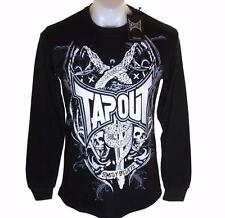 Bnwt Authentic Men's Tapout Long Sleeve T Shirt Crew Neck Black MMA UFC