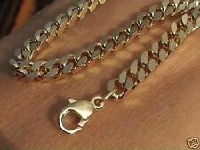 Curb chain 6mm or 5mm wide gold plated Curb chain bracelet by Measure