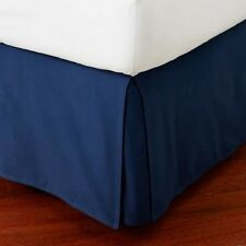 """800TC Navy Blue Solid 1-PC Bed Skirt 100%Cotton 8""""-24"""" Drop All American Size"""