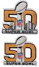 "SUPER BOWL 50 PATCHES SUPERBOWL NFL 50TH ANNIVERSARY 4"" JERSEY BRONCOS CHAMPIONS"