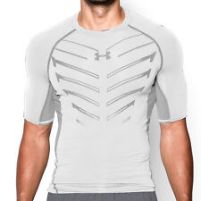 Under Armour Men HeatGear Anti-Odor Armour EXO Compression SS Shirt(1260044-100)