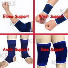 US 2 x Elastic Series Knee Wrist Ankle Elbow Support Brace Gym Sports Bandage