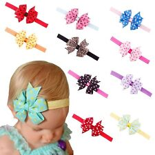 New Baby Headband Girls Toddler Flower Bowknot Dots Hair Band Hair Accessories