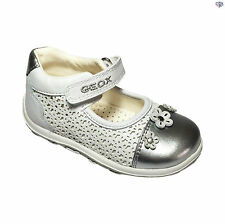Geox B Bubble B Girls White Floral Summer Casual Shoes Size 20 21 22 23 24 25