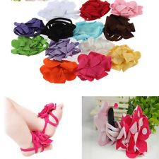 Newborn 0-12M Baby Infant Girls Sock Sandals Barefoot Toe Blooms Shoes Cute