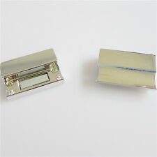 5-20PCS Square Magnetic Clasp Silver Plated Copper Slide Lock Jewelry Findings