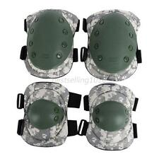 adjustable knee & elbow pad tactical airsoft combat protective skate pads B30
