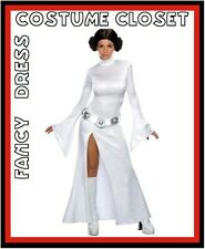 Princess Leia Star Wars Fancy Dress Costume Licensed Womens TV Movie Outfit