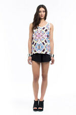 NEW Dawn Floral Mix Tank by Shilla the label by Shilla
