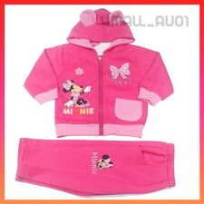 Kids Girls Minnie Mouse Hoodie Jacket TrackSuit Track Pants Winter Set Sz