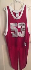 ADIDAS ORIGINALS X JEREMY SCOTT JS Red Tail Tailed Jersey Tank Top 53 Basketball