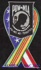 POW MIA VIETNAM WAR PATCH USA RIBBON HAT PATCH US MARINES NAVY ARMY AIR FORCE