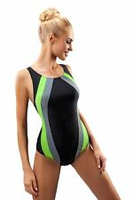 Ladies endurance swimming costume one piece swimsuit swimwear