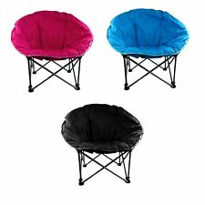 Moon Chair Folding Camping Garden Outdoor Padded Fishing Foldable Carry Bag 80cm