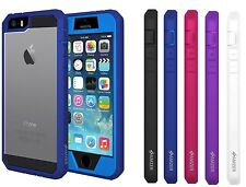 AMZER FULL BODY HYBRID HARD CASE COVER PLUS SCREEN PROTECTOR FOR IPHONE SE