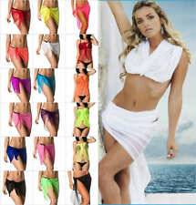 COQUETA SALE BEACH WOMEN SEXY COVER UP SARONG WRAP PAREO BIKINI CANGA SKIRT MESH