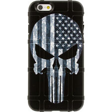 Magpul Field Case for iPhone SE,4,5,5s. Punisher Black Sub. USA Flag EgoTactical