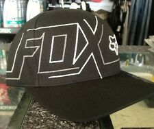 "FOX MENS SIZE CAP ""CLUTCHED"" FLEX FIT MX MOTORCROSS SKATE ROUNDED PEAK"