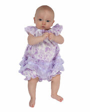 Laura Dare Lovely Lavender Floral Frilly Romper (NB - 24m)