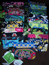 VERA BRADLEY ZIP ID COIN PURSE KEY RING WIDE VARIETY OF PATTERNS NWT
