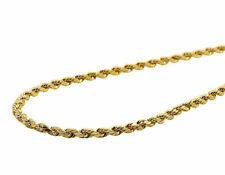New Real 10K Yellow Gold 2 MM Hollow Rope Chain Necklace 16-28 Inches