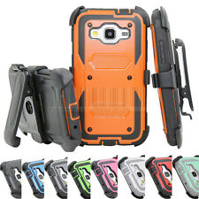 Heavy Duty Rugged Armor Shockproof Hybrid Case Tough Cover Belt Clip Holster