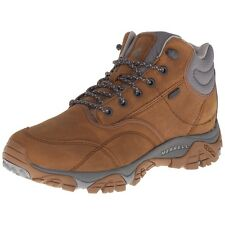 Merrell Mens Shoes Moab Rover Mid Waterproof Boots Merrell Tan