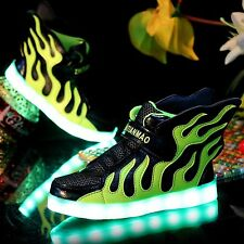Unisex Boy Girl LED Light Lace Up Luminous Shoes Sportswear Sneakers New Shoes