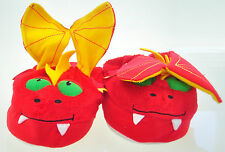 Stompeez Red Dragon Slippers Great Fun M or L Size NEW