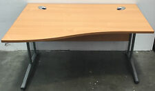 Beech Wood Wave Office Desk - Left and Right Hand Available