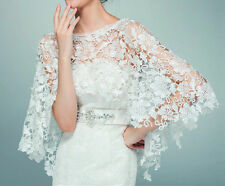 Fashion Wedding Dress Accessories Wrap Lace Shrug Bridal Shawl off-White Jacket