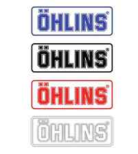 "2pcs 5"" Ohlins Suspension Racing Shock Decal Vinyl Sticker Bike Motorcycle MX"