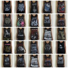 Unisex Rock Vest Singlet Tank-Top Sleevless T-Shirt Sizes S M L XL