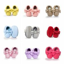 0-18M Toddler Infant Boys Girls Moccasin Crib Shoes Baby Soft Sole Leather Shoes