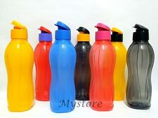 New Tupperware 1.0L H2O On The Go Water Drink Bottles Sport Flip Top Cap
