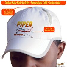 Piper Cherokee Cap Custom Airplane Pilot Hat - Personalized with Your N#
