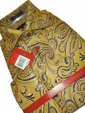 Mens Leonardi French Cuff Dress Shirt Edition 385 Sophisticated Mustard Gold