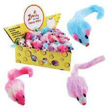 Zanies Fuzzy Polyester Cruelty Free Mouse Toy Fun For Cat Kitten Mouse w Rattle