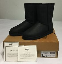 Women UGG Australia Classic Short Leather 1005093 Black Sz 7 9 NEW!