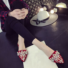 Womens Fashion Point Toe Bling Rhinestone Sandals Flip Flops Casual Party Shoes