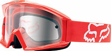 NEW Fox Racing Main Goggle Red with Clear Lens No Fog Motocross Dirtbike ATV MX