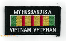 MY HUSBAND IS A VIETNAM WAR VETERAN PATCH US ARMY MARINES NAVY AIR FORCE PIN UP