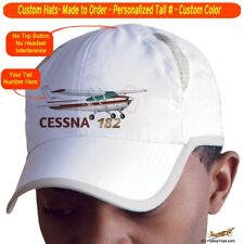 Cessna 182 Cap Custom Airplane Pilot Hat - Personalized with Your N#