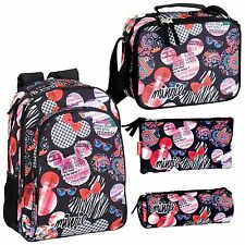 Minnie Mouse Backpack School Travel Large Rucksack Lunch Bag OFFICIAL Disney