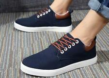 Hot Fashion Mens Canvas Leisure Denim Shoes Lace Up Breathable School Sneakers