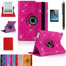Bling/Diamond 360°Leather Rotating Smart Stand Case Cover For APPLE iPad AIR 1/2