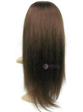 "22""26""30""silk straight Pretty Half Wig 3/4 Half Wig 100% Indian remy human hair"