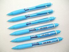 6Pcs Uni-Ball JetStream SXN-150C Retractable 0.7mm Ball Point Pen, LIGHT BLUE