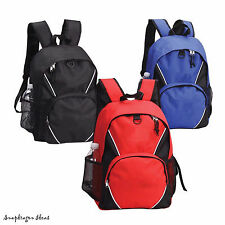 Sport College Student School backpack P3602 Black, Navy or Red