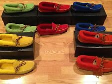 Polo Ralph Lauren leather suede Yarmond shearling slippers house shoes $175